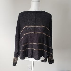 Wooden Ships Black And Tan Poncho